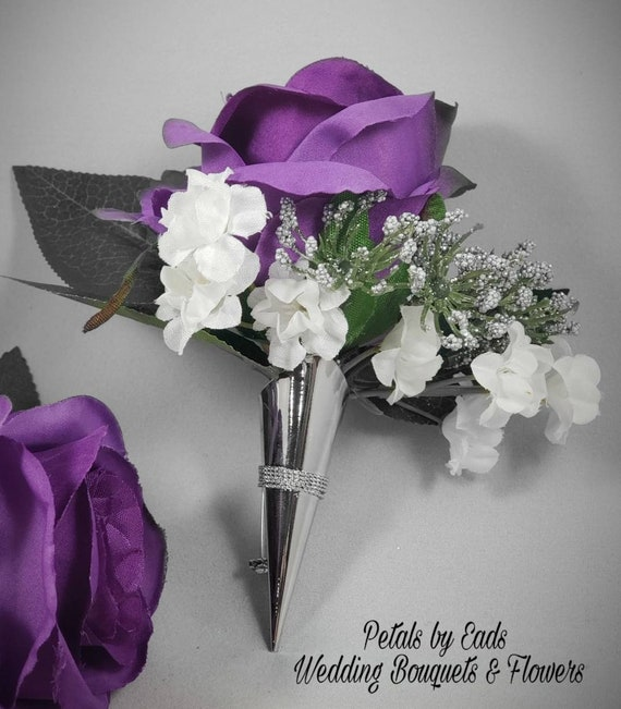 Purple Rose Bud Orchid Corsage or Boutonniere