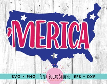 July 4th SVG - Merica svg - Independence Day svg - USA svg - Merican Mama - America - July 4 - Patriotic svg Cut File -Cricut -Silhouette