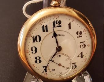 Vintage 1920 Illinois 17J 16s working Pocket Watch