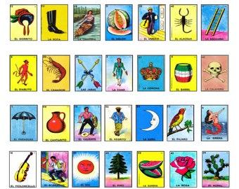 photo regarding Free Printable Loteria Cards named Loteria shots Etsy