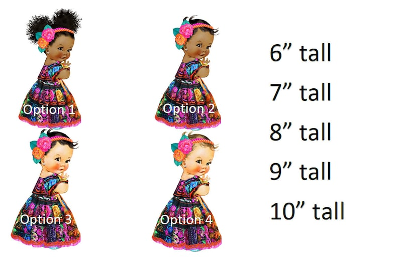 Mexican embroidered dress flower headband Mexico Baby Girl puffs baby Shower Cake Decoration Icing Sheets