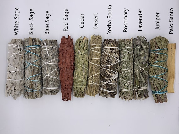 """Wands House Cleansing Negativity Removal 4-5/""""  NEW 5 Blue Sage Smudge Stick"""