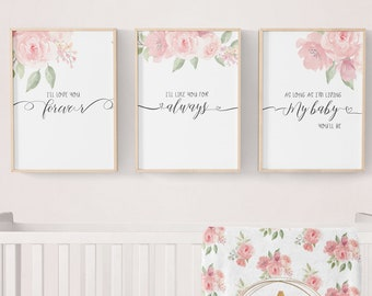 Floral Nursery Decor | Etsy