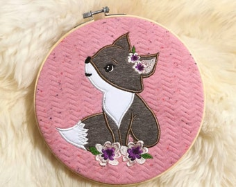 Fox Fox Application Embroidery File Embroidery