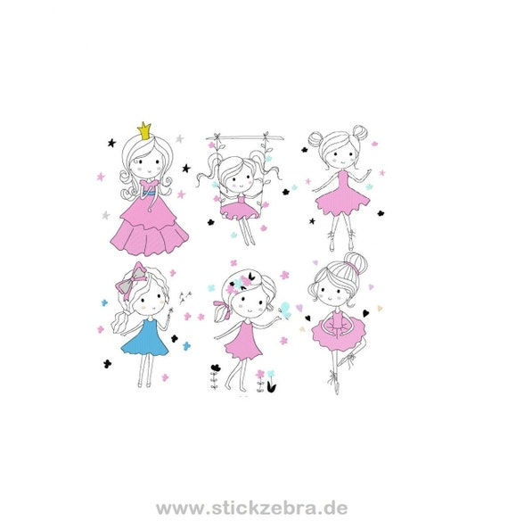 """Doodle Girls """"Little Beautys"""" Embroidery File Set (Embroidery)"""