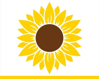 Sunflower Svg Etsy