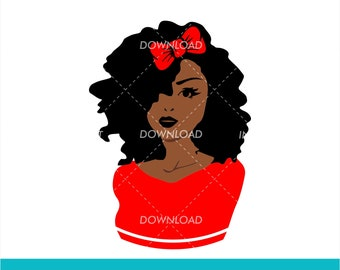 Black Woman Free Svg Etsy