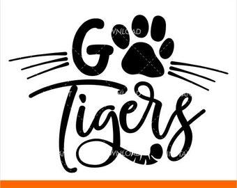 Tigers Y All Tigers Svg Grunge Svg Tiger Svg Football Etsy