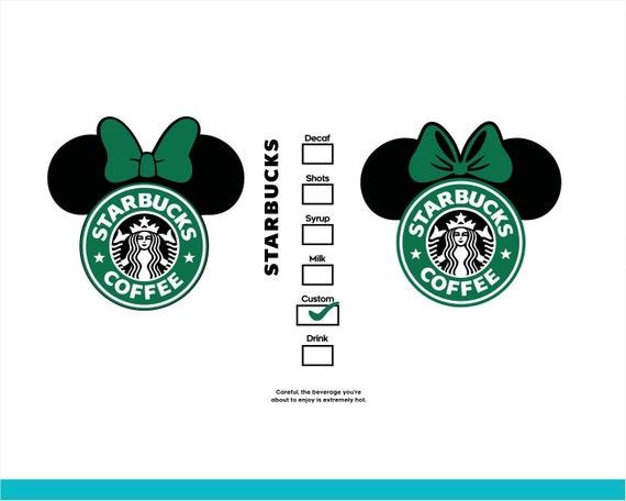 Disney Starbucks Logo Svg Starbucks Dxf Starbucks Option Etsy