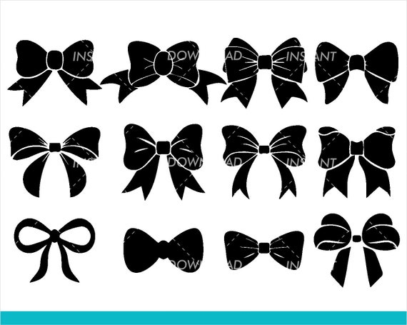 Sale Bow Tie Svg Bow Outline Svg Bow Cut Files Bow Etsy