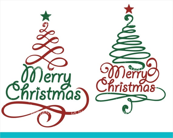 Merry Christmas Svg Christmas Tree Svg Christmas Svg Etsy