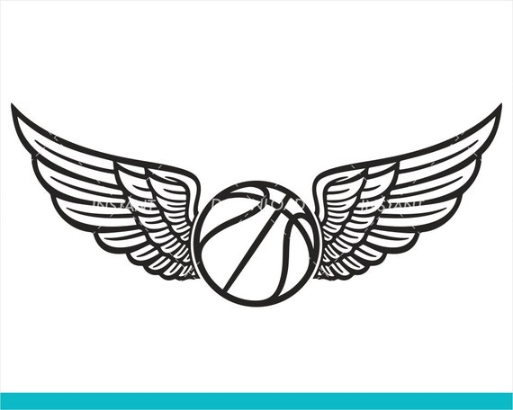 Basketball With Wings Svg File Fastpitch Basketball Svg Etsy