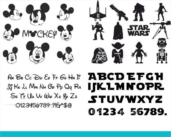 Sale Disney Star Wars Svg Bundle Star Wars Clipart Etsy