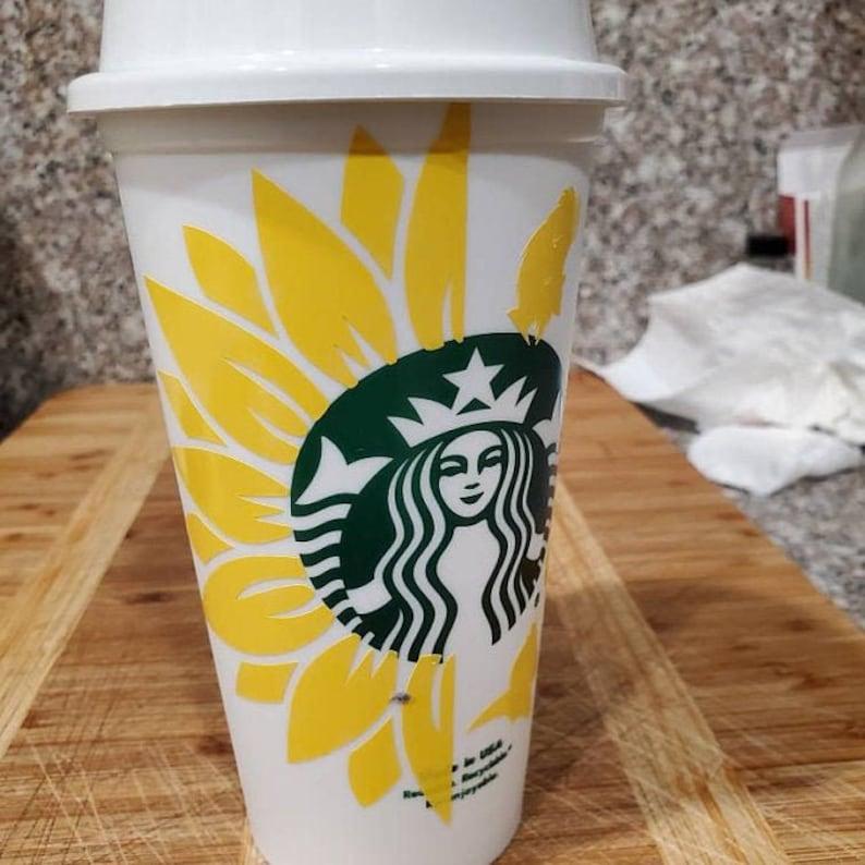 Download Sunflower Starbucks Svg Leaf Flower Floral Starbucks Svg ...