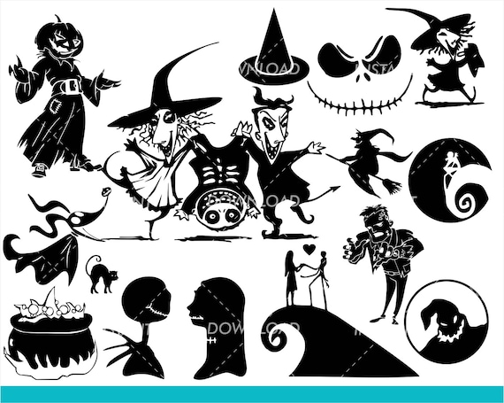 Nightmare Before Christmas Svg Collection Lock Shock And Etsy