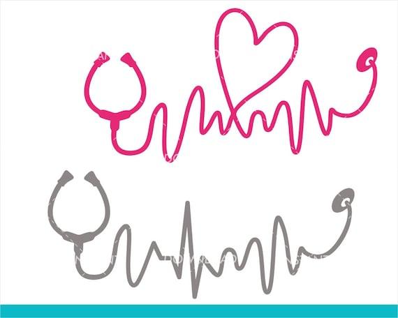 Heartbeat Svg Nurse Svg Free Font Doctor Svg Etsy