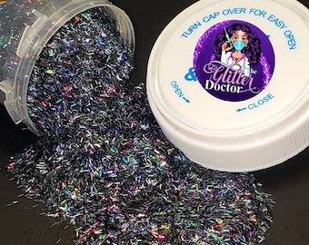 Goth J B Fun S-002 Black Glitter Dark Black Mica Glitter Flakes in 2 Sizes Box Jar S-018 Hallowe/'en