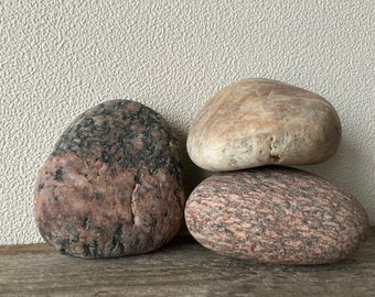Beach stones beautiful stones from the Baltic Sea stones Size 1.4-2.0  3.5-5.0cm 10 stones,interesting stones,different size