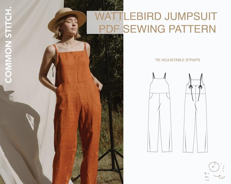 Wattlebird Jumpsuit Digital PDF Sewing Pattern image 0