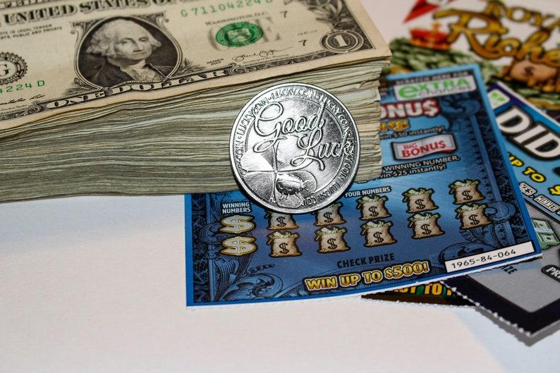 lottery scratcher coin