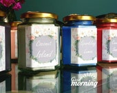 Wild Mint Candles - Mint Candles, 8oz candles, garden candles, spring candles,refreshing candles, bedroom candle - Home Candles