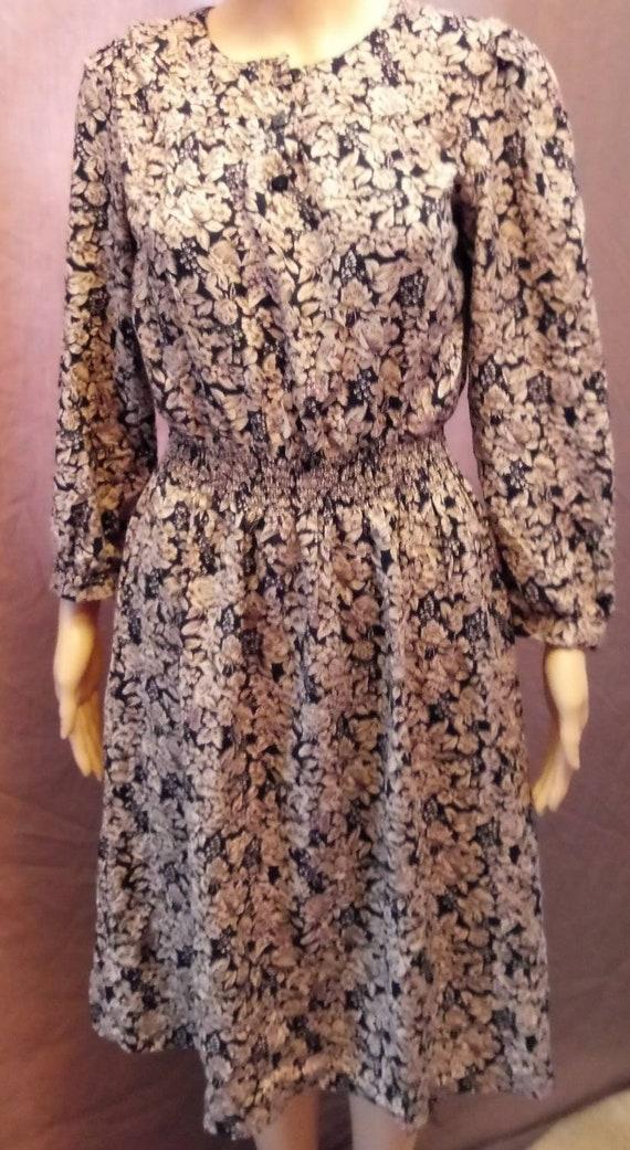 1980s Tauras II floral print dress
