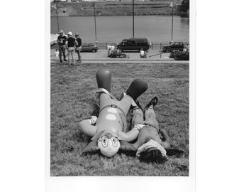 Real Photo Postcard, Riverfront Park, Bozo, Nashville, September, 1998.