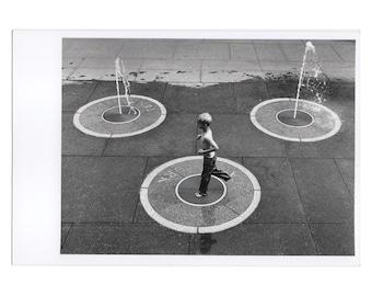 Real Photo Postcard, Bicentennial Capital Mall Park, Fountains, Nashville, 1998.