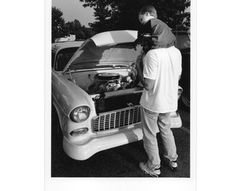 Real Photo Postcard, Franklin, Car Show. 1956 Chevy. June, 1998.