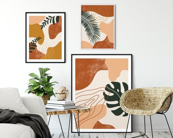 3 prints d'art dabstrait