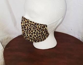 Cheetah Print Mask | Leopard Print Mask | Cat print mask | Animal Print Mask