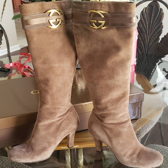 Vintage Gucci Boots | Knee High Gucci Boots