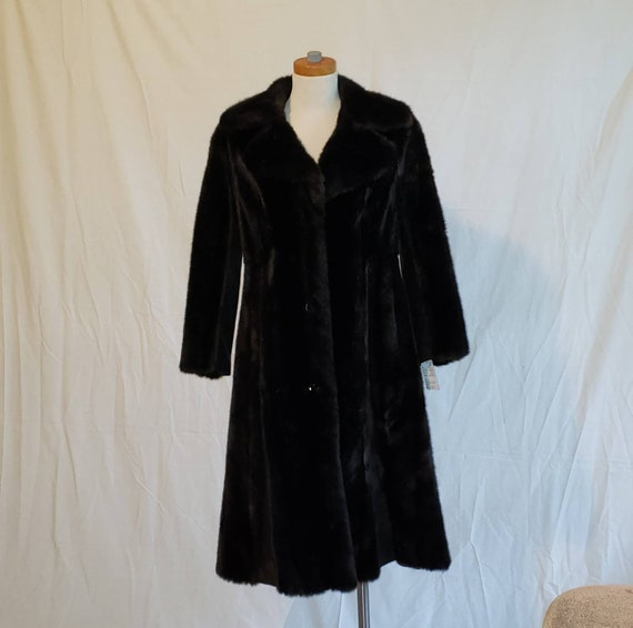 Faux Vintage Mink Fur Coat