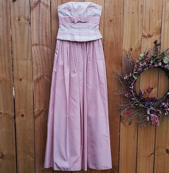 Vintage Prom Dress | Pink Prom Dress