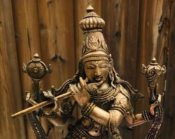 Lord Krishna Bronze Statue