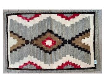 Vintage 1970's Eye Dazzler Navajo Rug