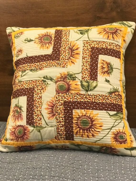 pillow cases calico cotton is yellow