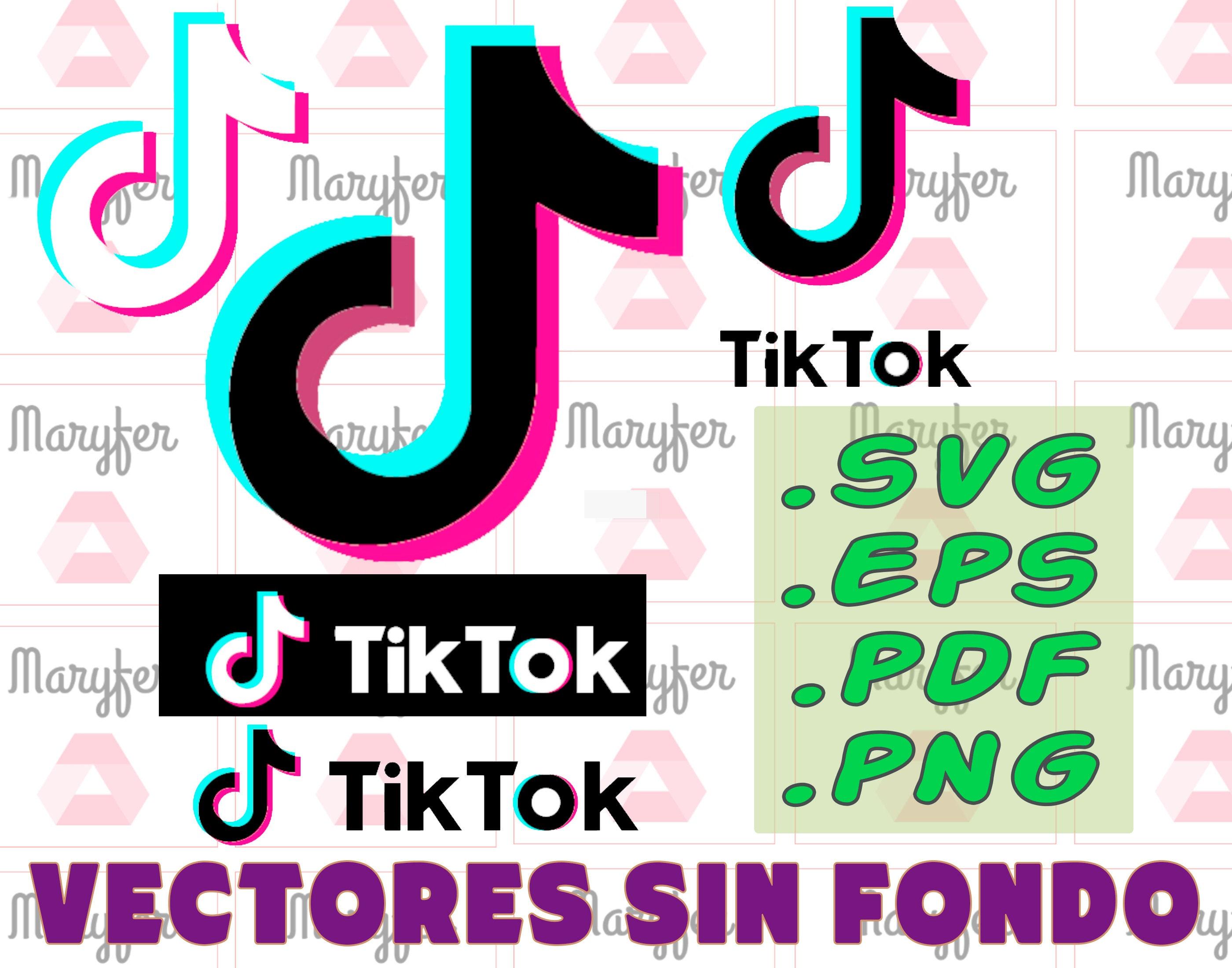 Tiktok Tik Tok Logo Pack Pack Pack Vectors Pdf Eps Svg Png Etsy