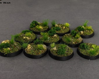 Battle Ready Bases - Forest Bases 32 mm/40 mm  [PAINTED]