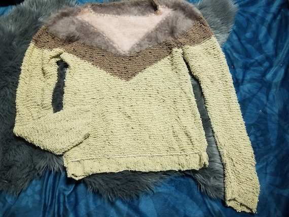 Angora Sweater With Chevron Design