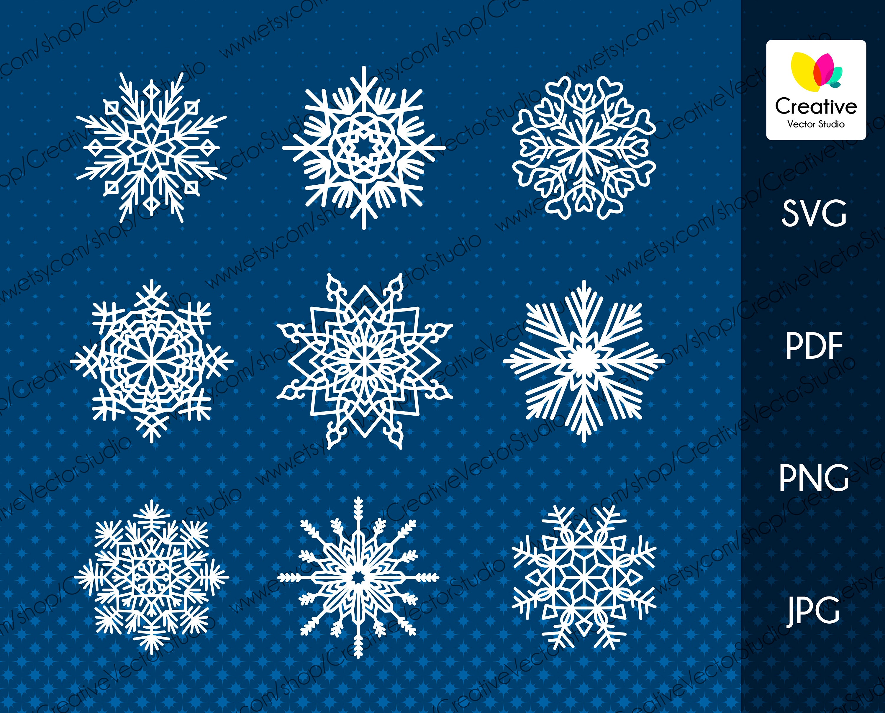 Snowflakes Svg Snowflake Clipart Flake Of Snow Svg Winter Etsy