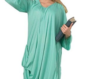 Patriotic Costume - Adult Statue Of Liberty Costume- 4th of july Idependence day