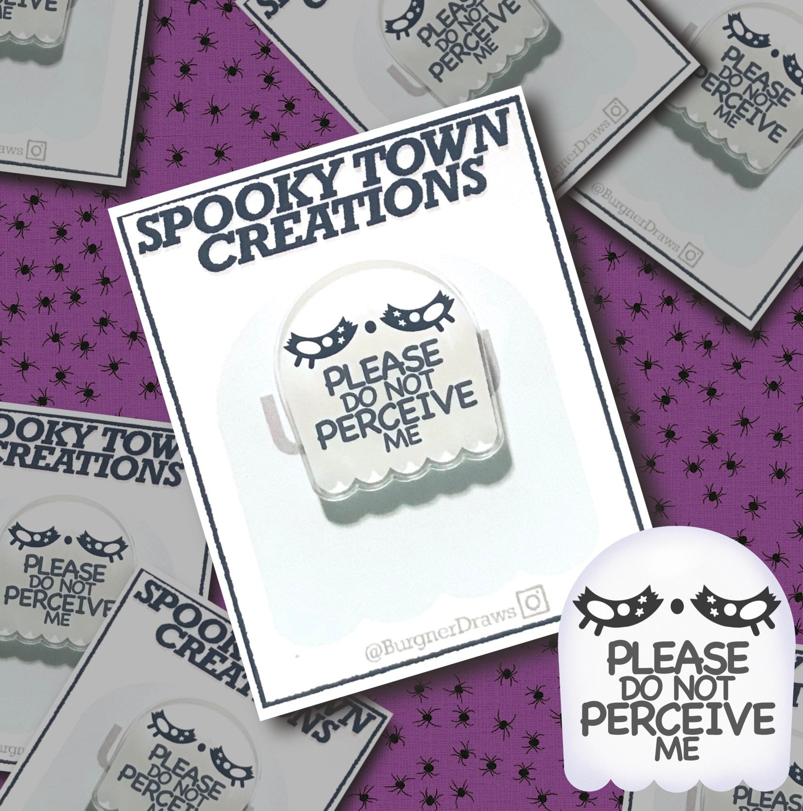 Por favor no me preserve Acrílico Fantasma Pin | Etsy