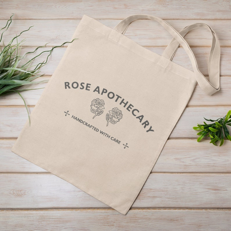 Top 27 Best Schitt's Creek Gifts from Etsy featured by top Seattle lifestyle blogger, Marcie in Mommyland: Rose Apothecary Tote Bag Shopping Bag David Rose Natural