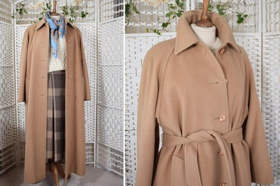 DAKS Camel Full Length Oversized Belted Coat | 198
