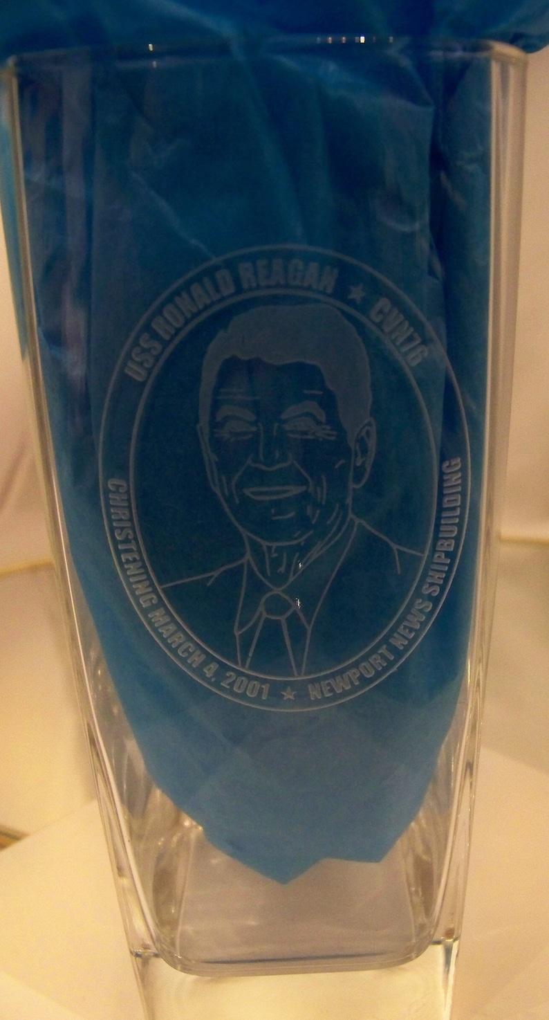 USS Ronald Reagan Tumblers Drinking Glasses  Souvenier  President
