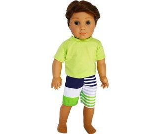 LB Surf Board n Swim Trunks for 18 inch Doll American Girl Boy Logan Found It