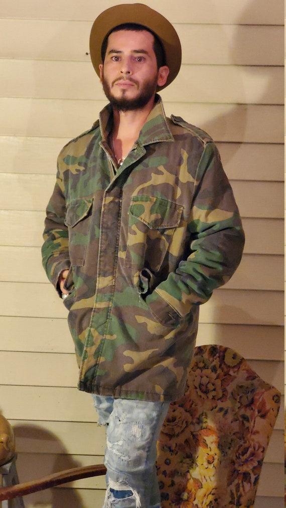 Vintage camouflage jacket