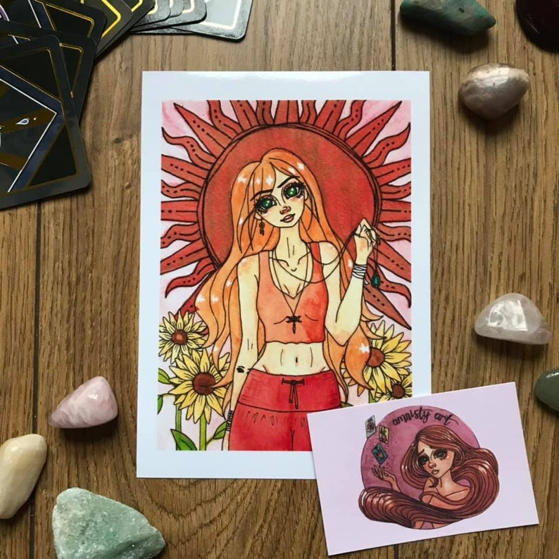 Sunflower Girl Print