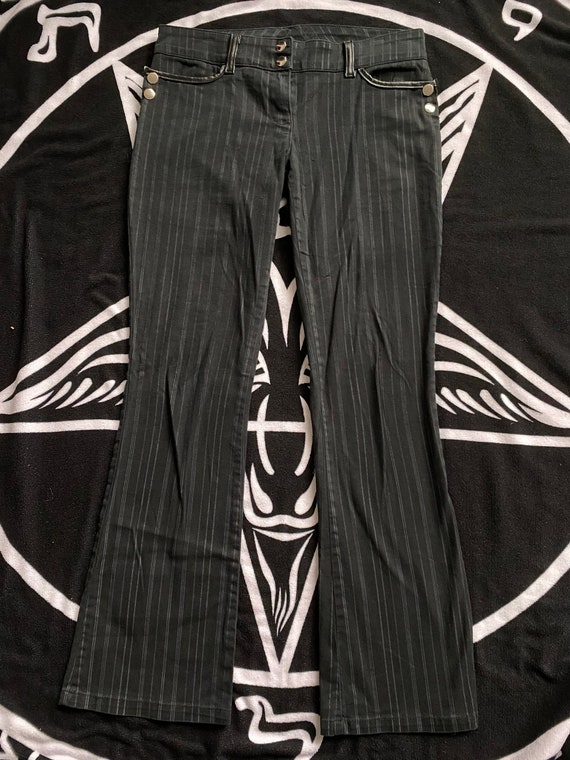 Vintage Lip Service Black and Gray Pinstripe Pants